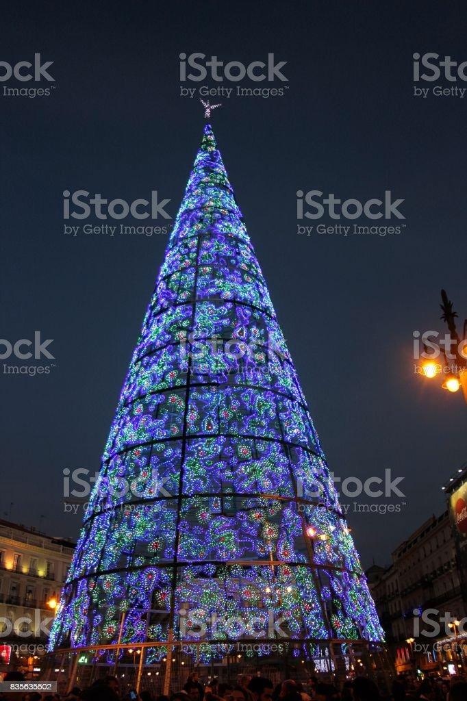 Espagne, Madrid - sapin de noel a plaza puerta del sol stock photo