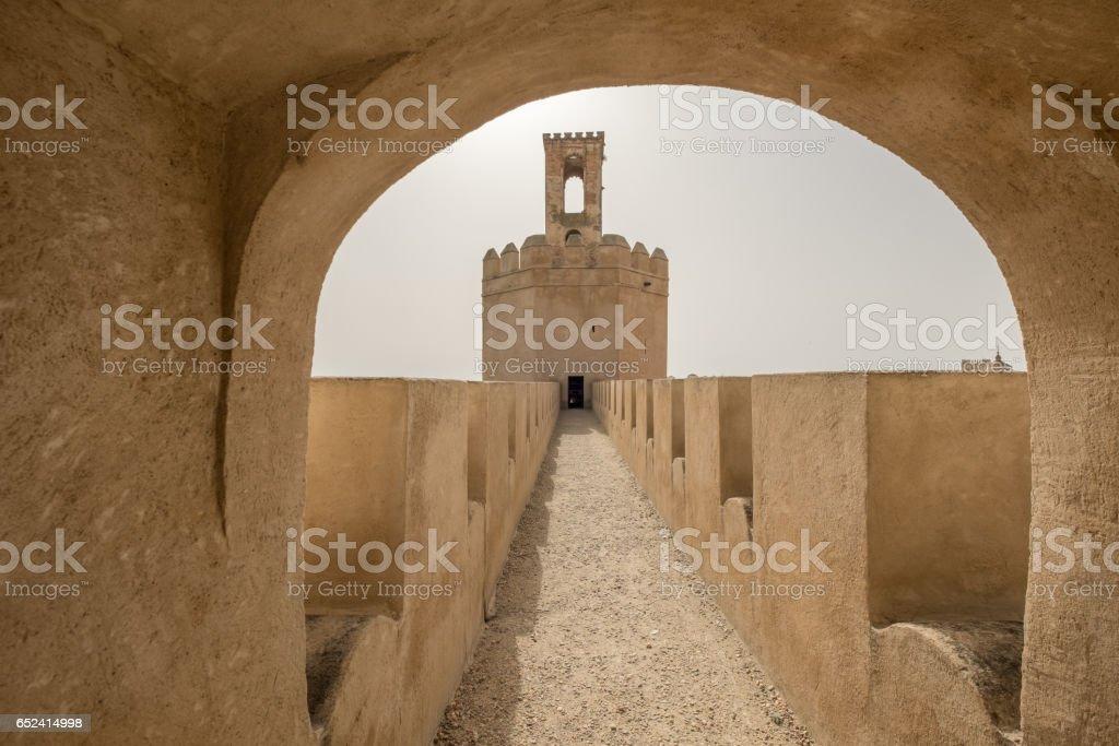 Espantaperros tower in Arabic fortification of Badajoz stock photo