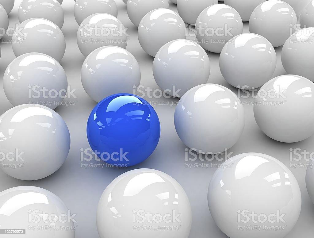 especial blue ball royalty-free stock photo