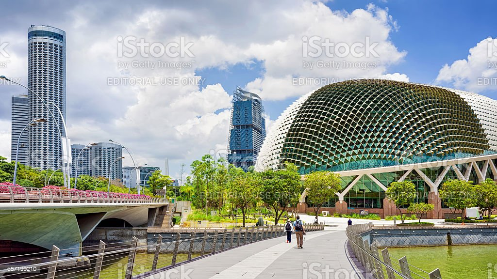 Esplanade and Theaters on the Bay Singapore stock photo