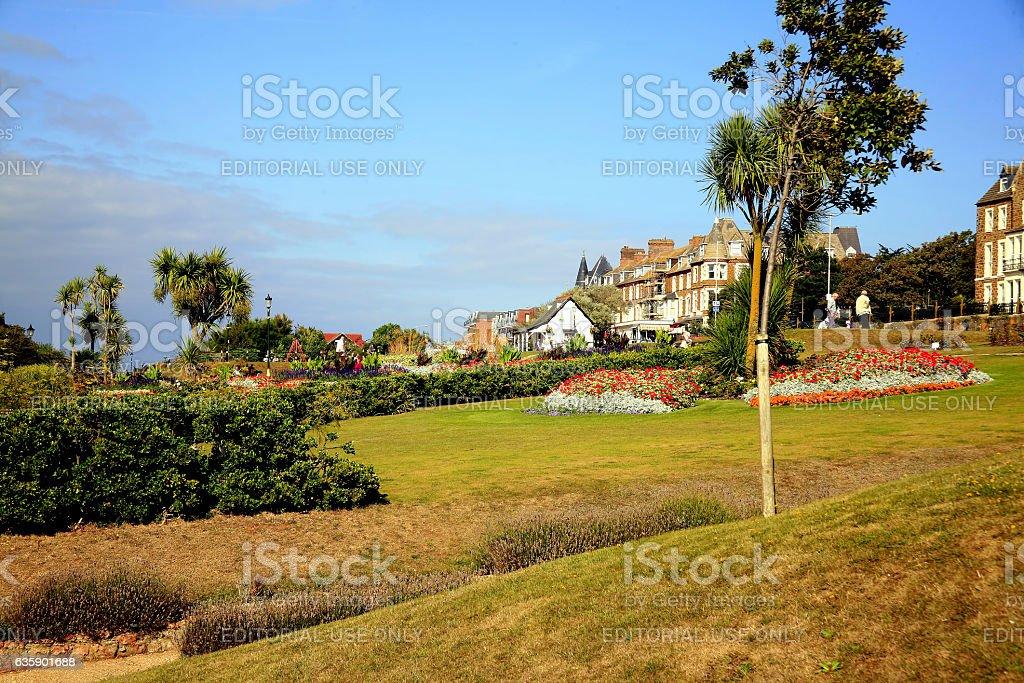 Esplanade Gardens, Hunstanton, Norfolk. stock photo