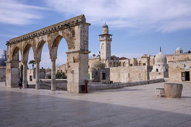 Esplanade of the mosques in Jerusalem - foto de stock