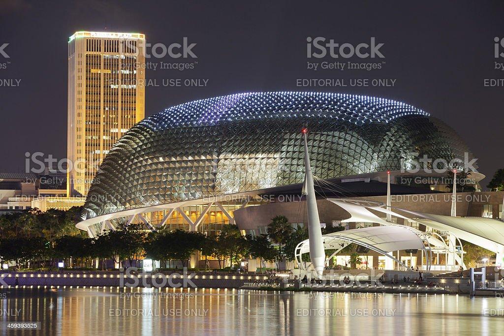 Esplanade Theater in Singapore royalty-free stock photo