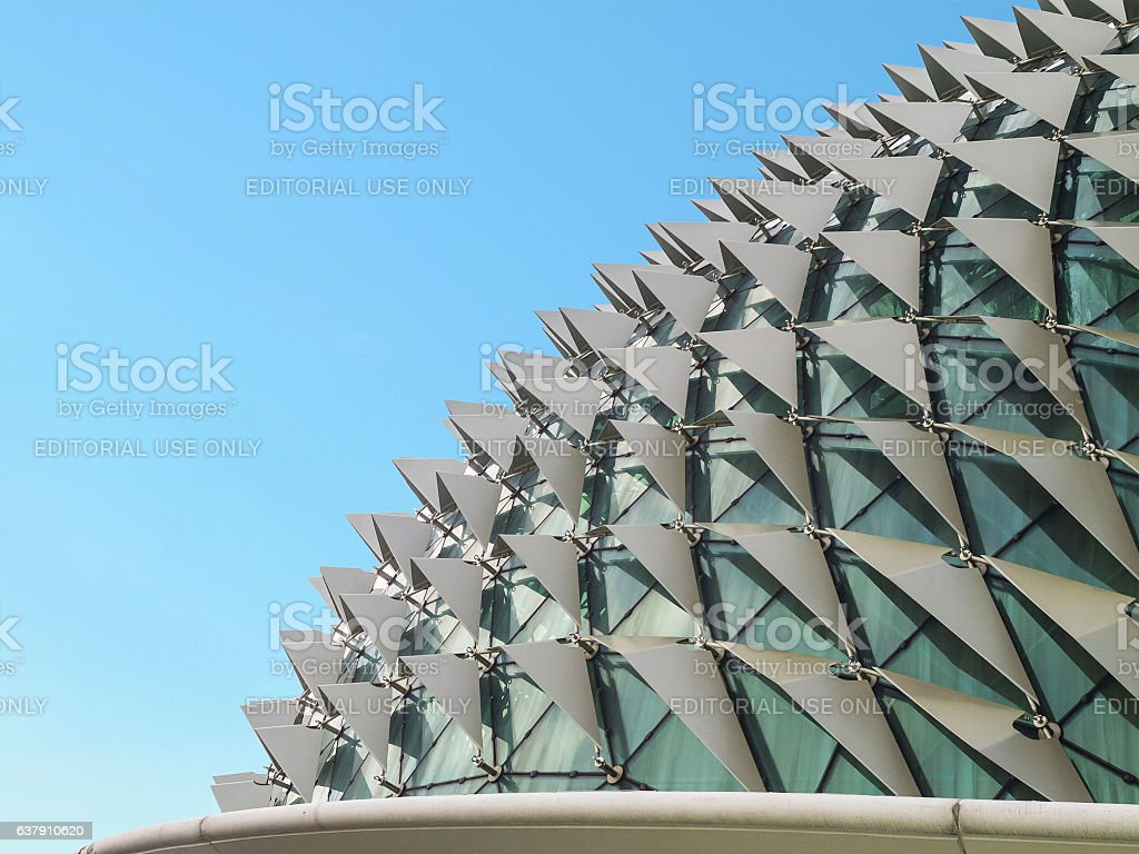 Esplanade theatres famous landmark of singapore stock photo