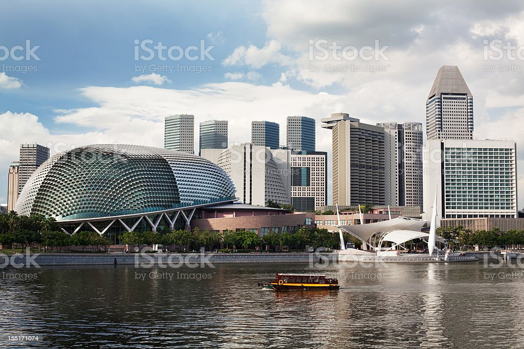 Esplanade Theatres on the bay by Singapore Waterfront during Day royalty-free stock photo