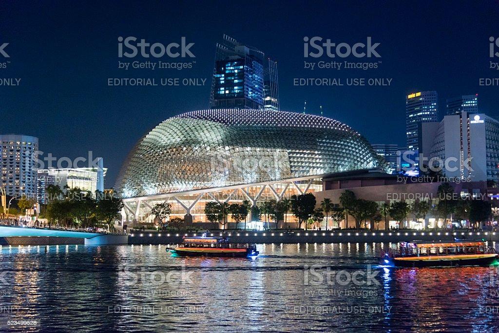 Esplanade Theatres on the Bay, Singapore stock photo