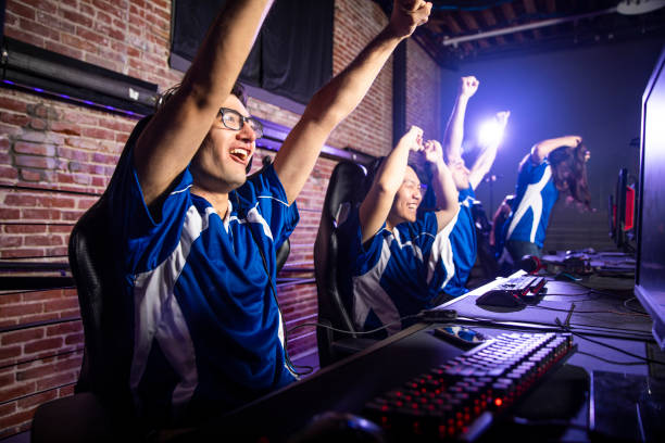 Esports Team Winning the Match stock photo