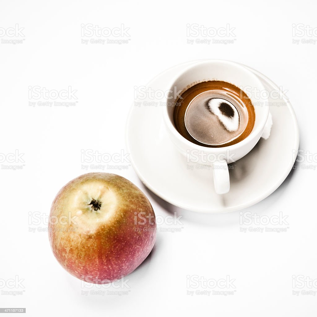 espresso and apple royalty-free stock photo