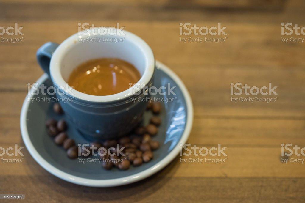 濃咖啡和咖啡豆 免版稅 stock photo