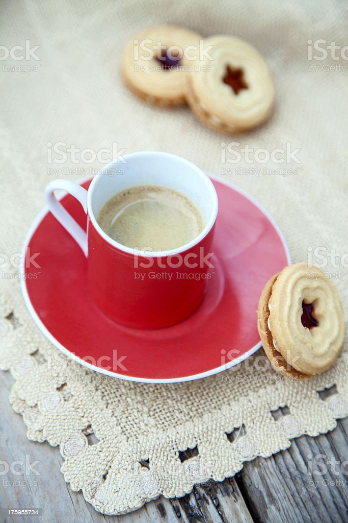 Espresso and cookies royalty-free stock photo
