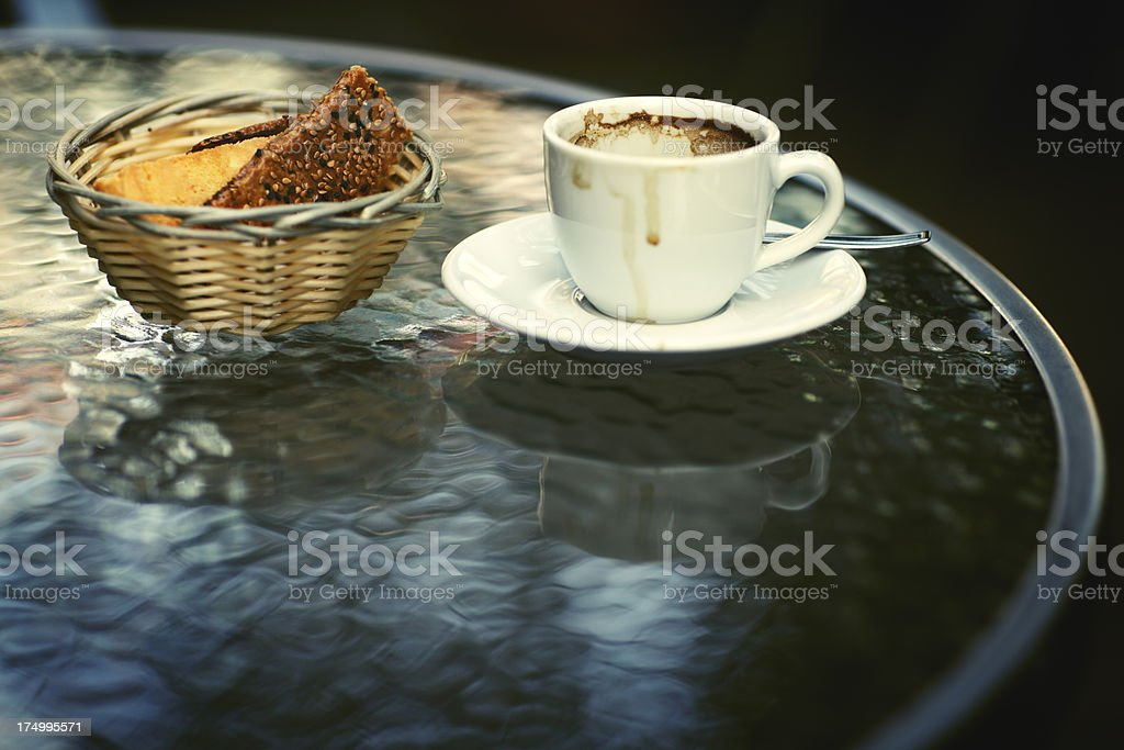 Espresso and Crackers royalty-free stock photo