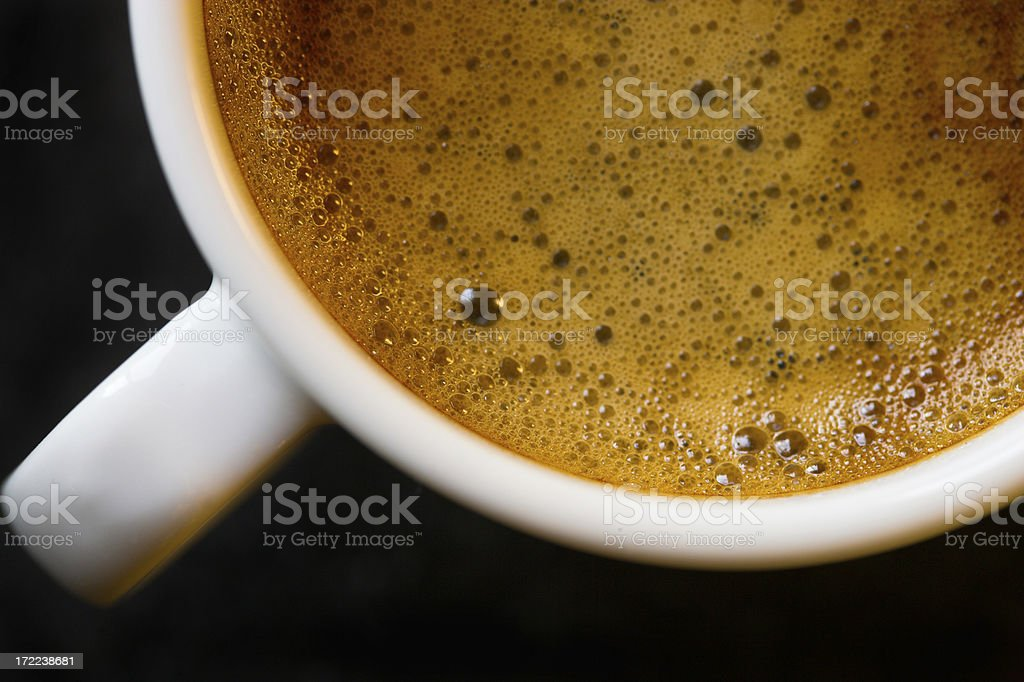 Espresso Close up Cup Coffee Strong Black Caffeine Expresso royalty-free stock photo