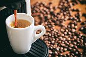 Espresso coffee and machine