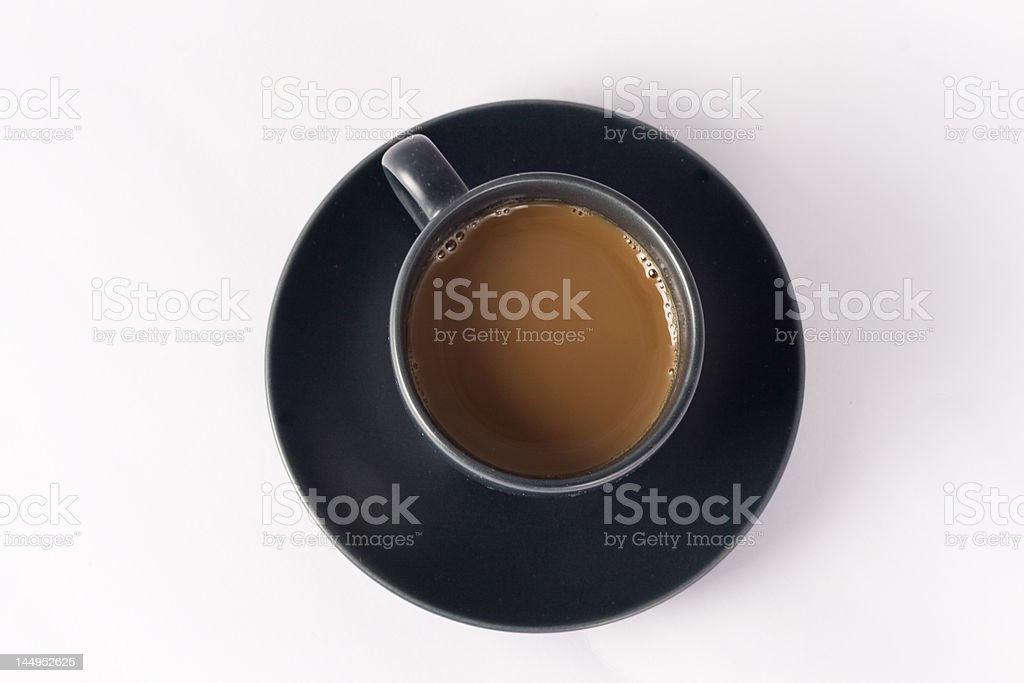Espresso coffee cup isolated on a white background royalty-free stock photo