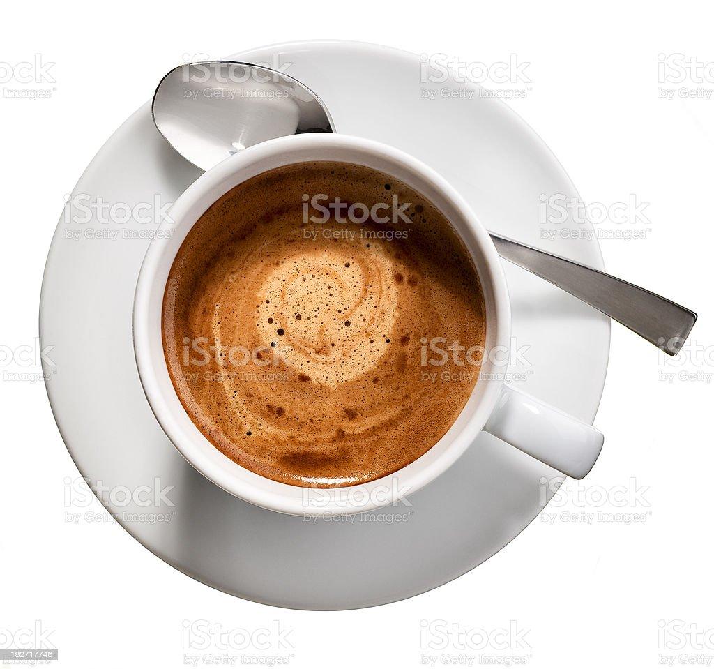 Espresso coffee cup.Color image stock photo