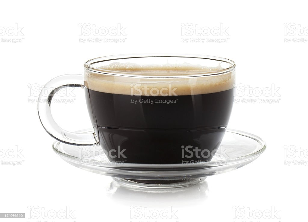 Espresso coffee in glass cup royalty-free stock photo