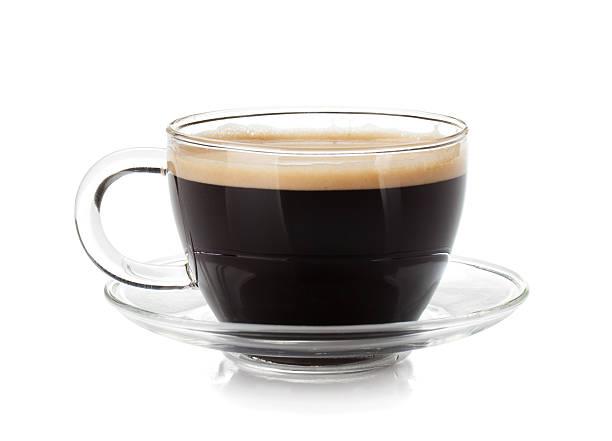 эспрессо кофе в стеклянную чашку - эспрессо стоковые фото и изображения