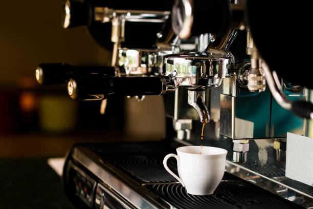 Espresso coffee maker stock photo