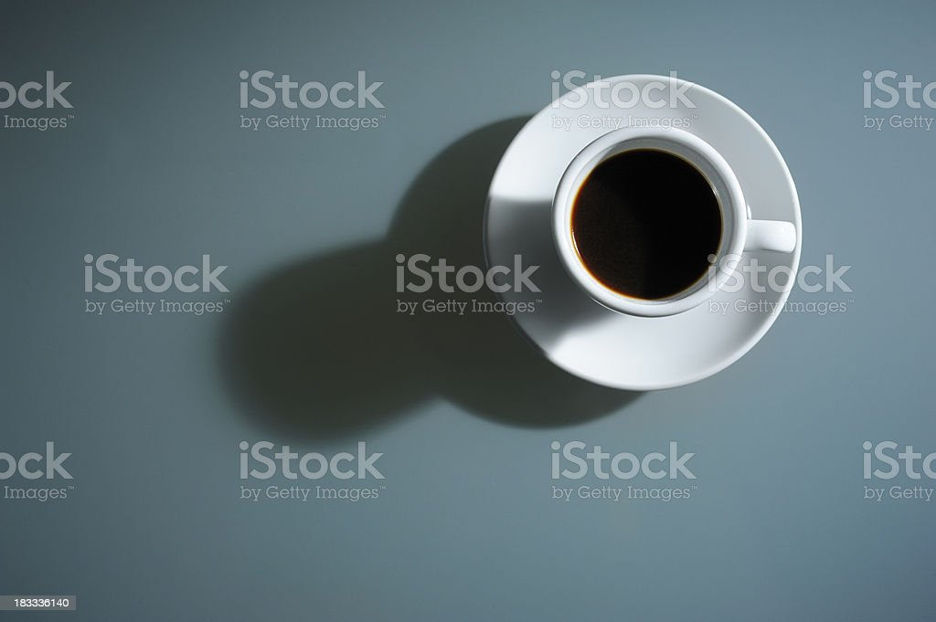 Espresso Coffee Ready to Drink, From Above royalty-free stock photo