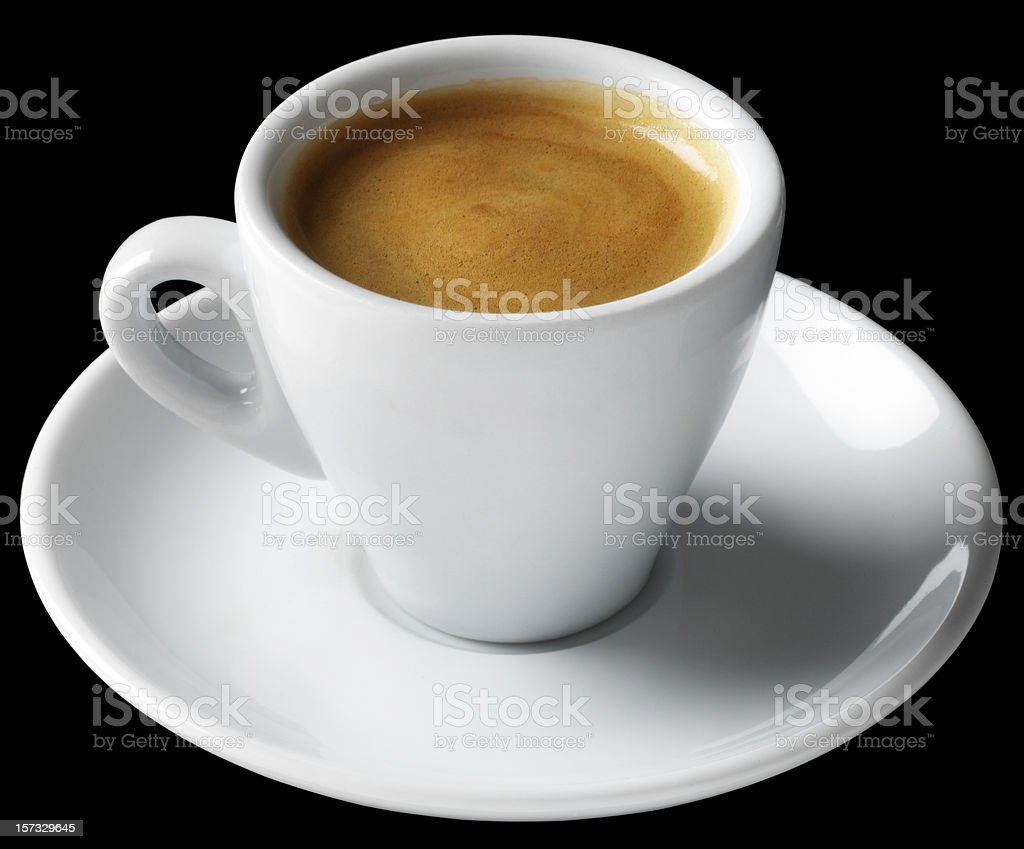 Espresso Coffee Short Black stock photo