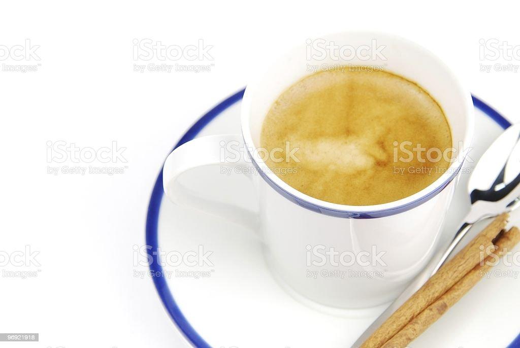Espresso coffee with cinnamon royalty-free stock photo