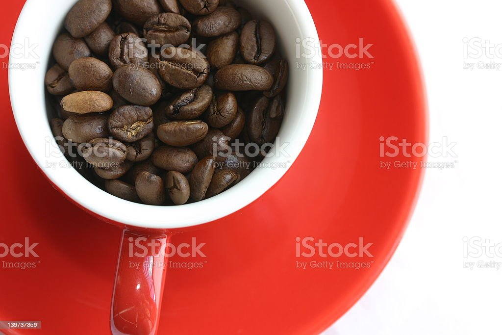 Espresso Cup in Red royalty-free stock photo