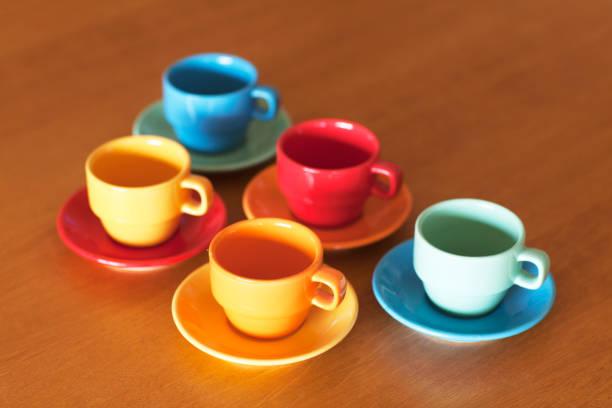 espresso-tassen - mokkatassen stock-fotos und bilder