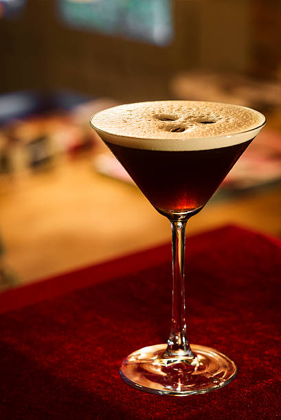 espresso expresso coffee martini cocktail espresso expresso coffee martini cocktail in bar martini stock pictures, royalty-free photos & images