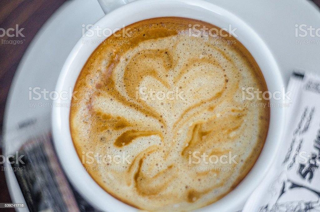 Café exprés de espuma foto de stock libre de derechos