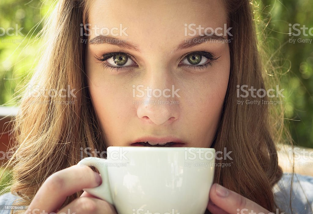 Espresso Girl royalty-free stock photo