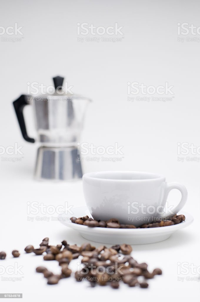 espresso jug and cup royalty-free stock photo
