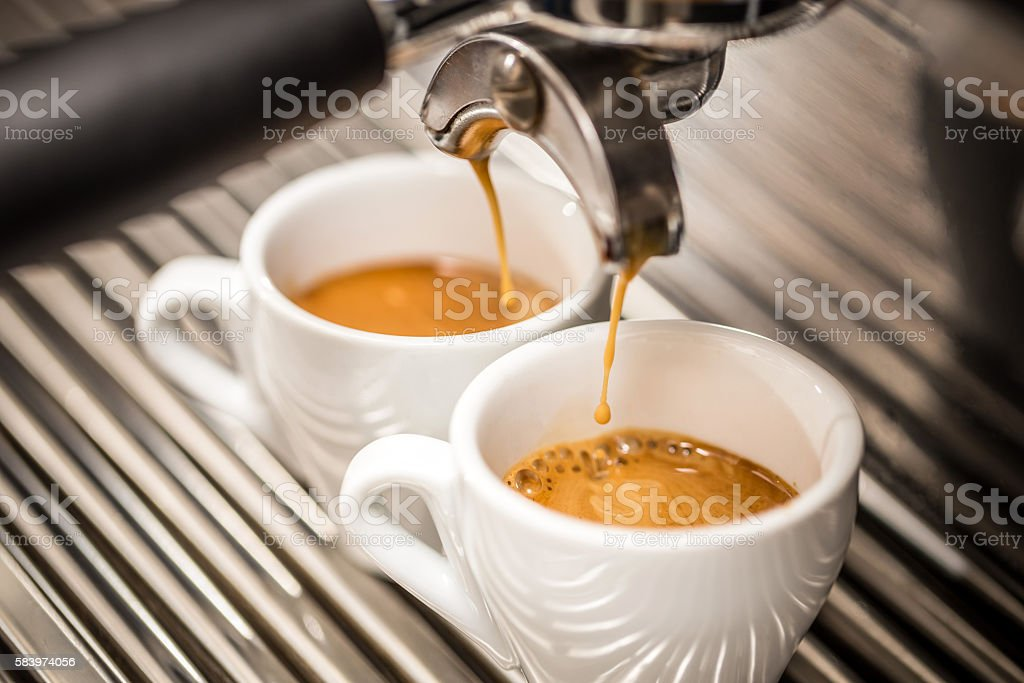 Espresso machine stock photo