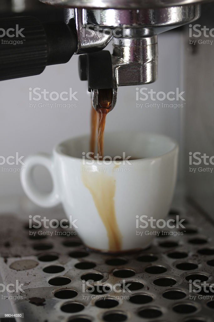 Espresso maker close up royalty-free stock photo