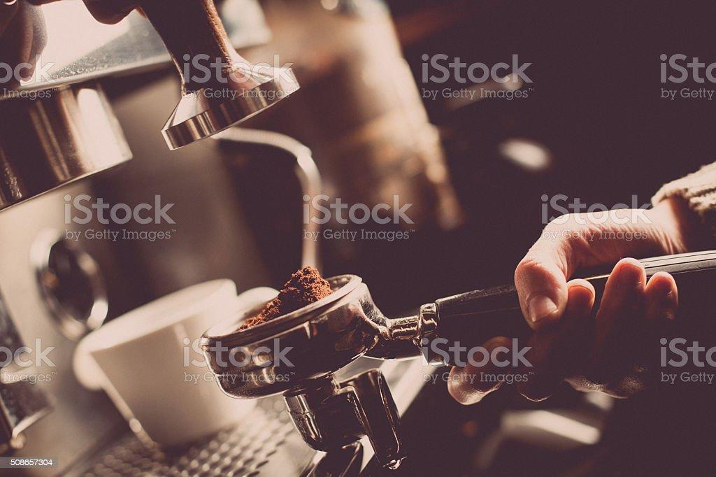 Máquina para preparar café - foto de stock
