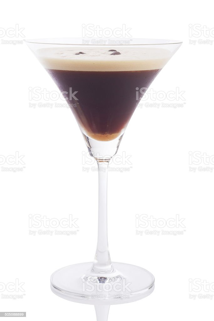 espresso martini cocktail stock photo