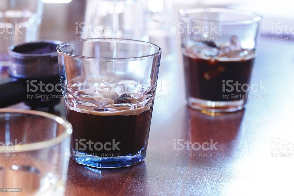 Espresso on ice royalty-free stock photo