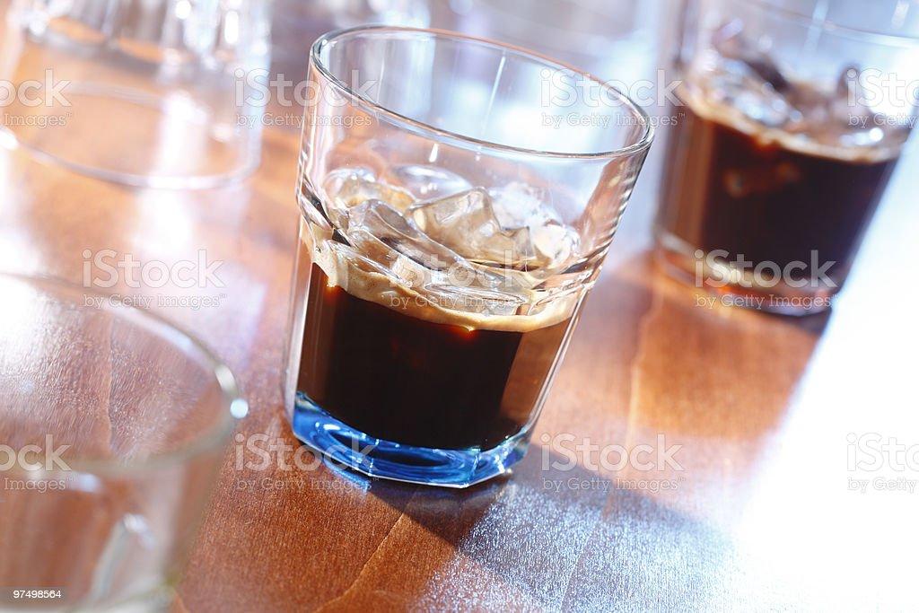 Espresso on ice royalty-free stock photo