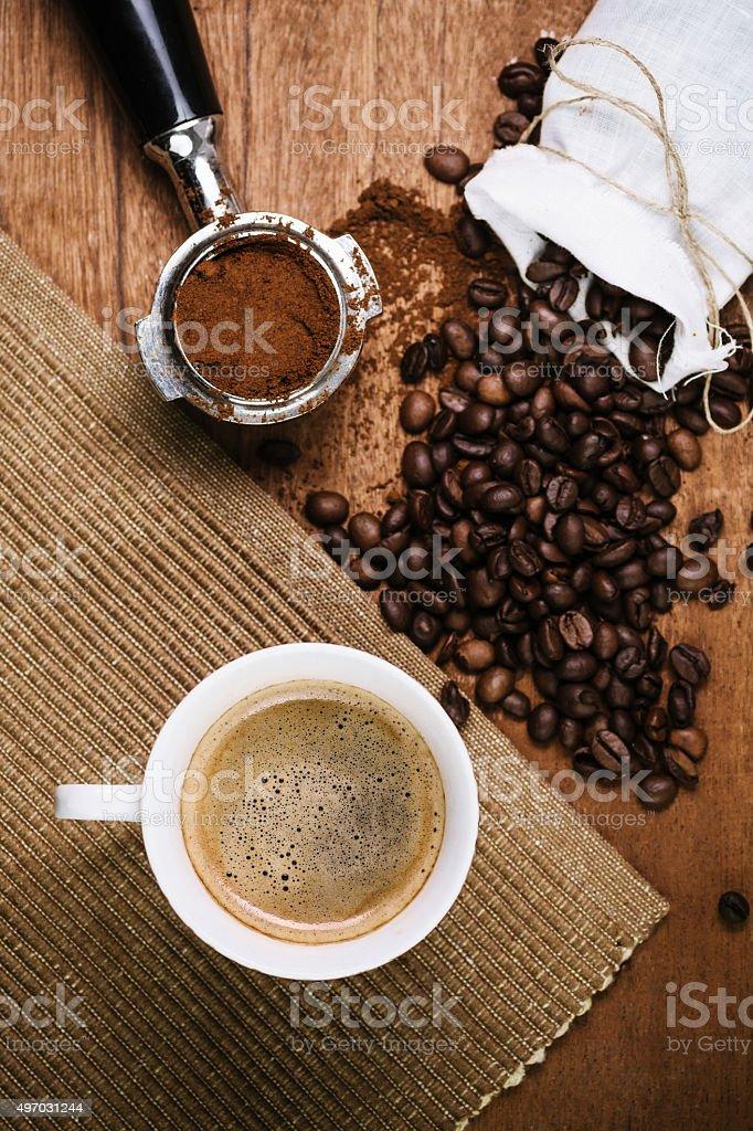 Espresso de sobrecarga - foto de stock
