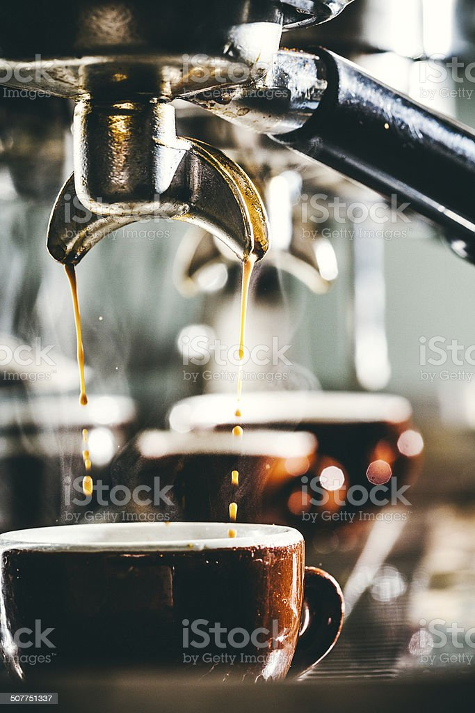 Espresso Preparation stock photo