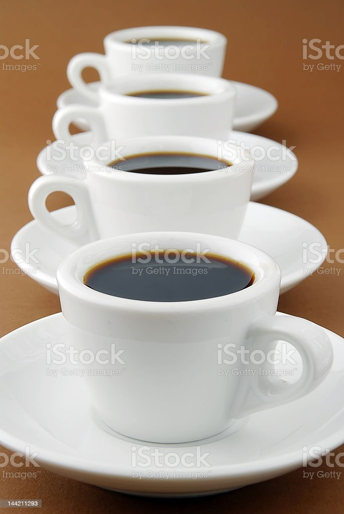 espresso row royalty-free stock photo