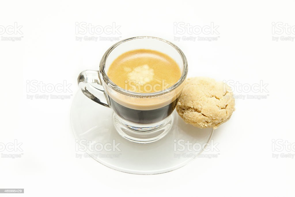 Espresso Shot + Cookie stock photo
