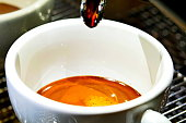 Coffee - Drink, Coffee Cup, Drink, Espresso, Pouring