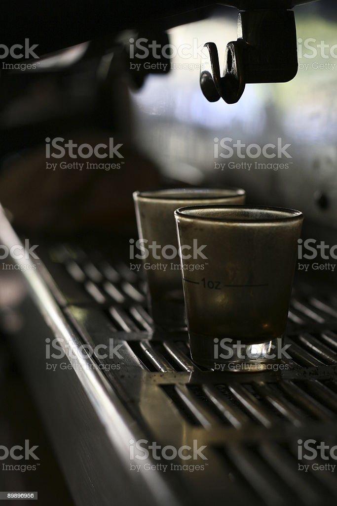espresso shotglasses Nahaufnahme 1 Lizenzfreies stock-foto