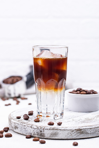 istock Espresso tonic, trendy coffee drink 1242082810