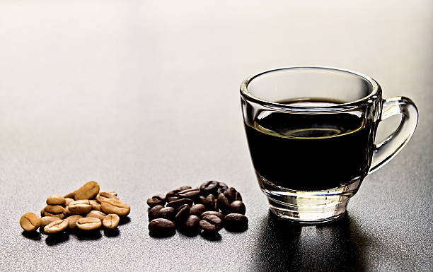 espresso with coffee bean - omg stock photos and pictures