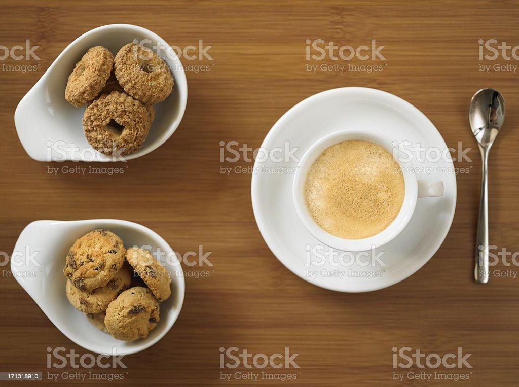 Espresso mit cookies – Foto