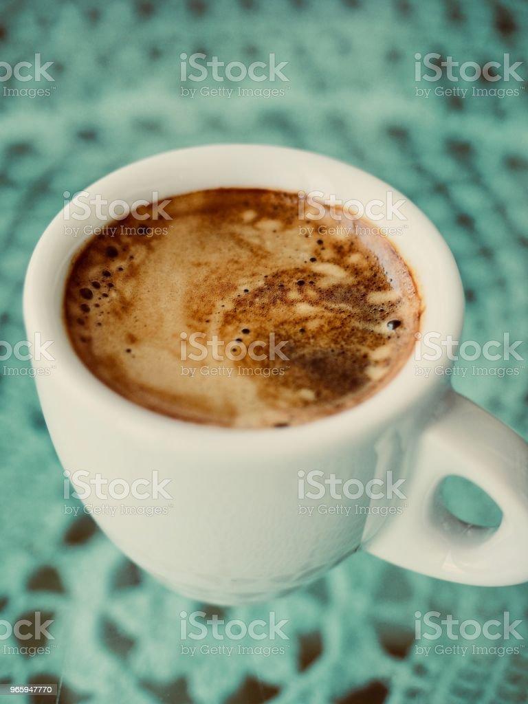 Espresso kopje Espresso koffie, crema, crema van de koffie - Royalty-free Boom Stockfoto