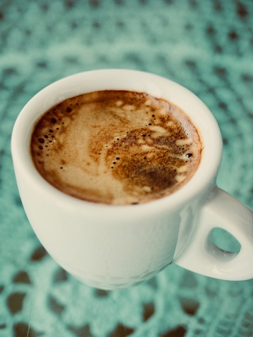 Espresso Kopje Espresso Koffie Crema Crema Van De Koffie Stockfoto en meer beelden van Boom