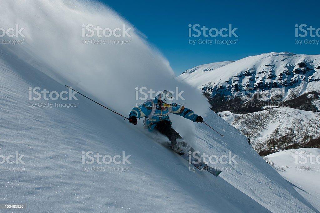 Esquiador en Cerro Chapelco royalty-free stock photo