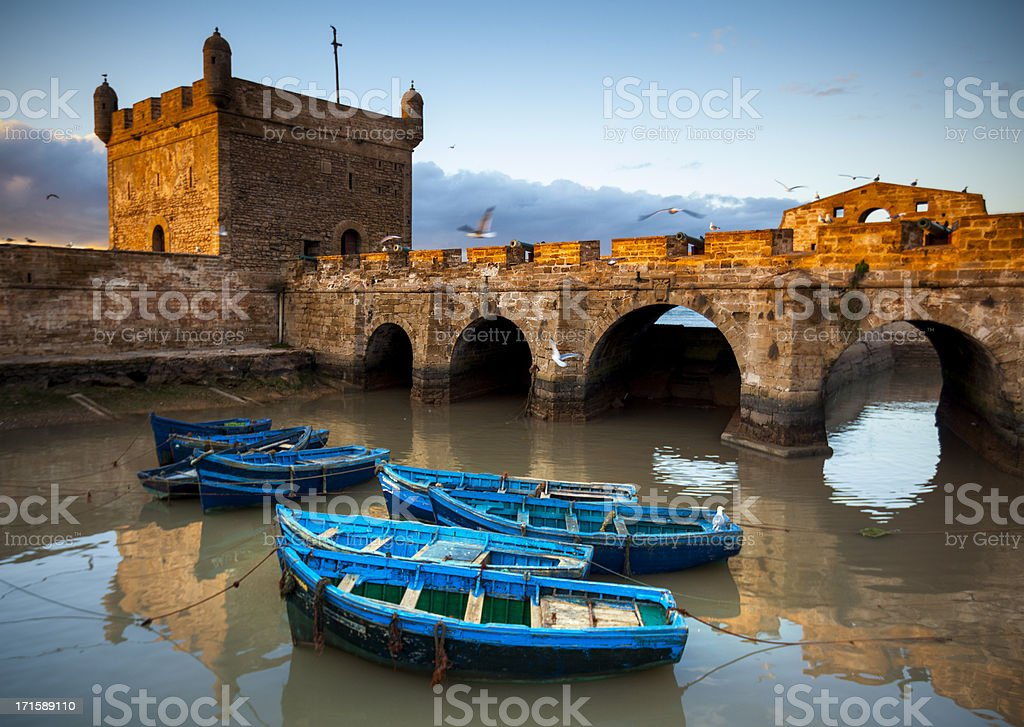 Essaouira, Morocco: The ramparts of Skala de la Ville stock photo